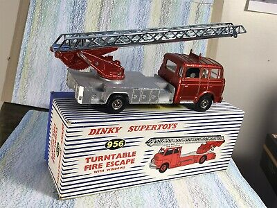 £111 • Buy Dinky Toys #956 Berliet Turntable Fire Escape VNMint In Wrong Box Red/silver