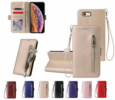 AU12.90 • Buy Oppo A39 A57 Pu Leather Wallet Case With Card Front Zip Side Magnet Closure
