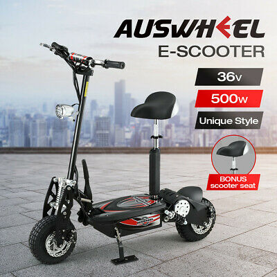 AU749.95 • Buy Auswheel 500W Electric Scooter Folding Deep Cycle Scooter Off Road Adjustable