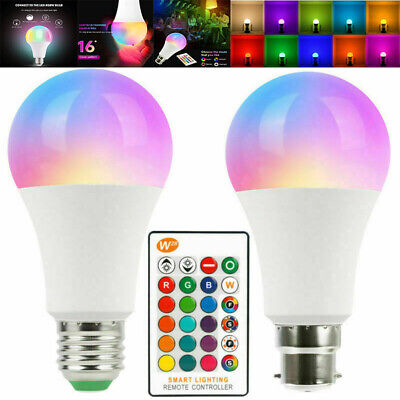 £6.99 • Buy LED RGB Colorful Changing Light Bulb Dimmable Bulbs With Remote Control UK