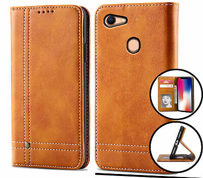AU12.90 • Buy Oppo A73 A75 F5 Pu Flip Leather Wallet Case Card Slot Kickstand Magnet