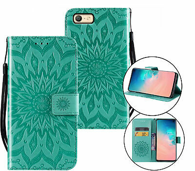 AU10.95 • Buy Oppo A39 A57 Wallet Case Embossed Pu Leather Sunflower