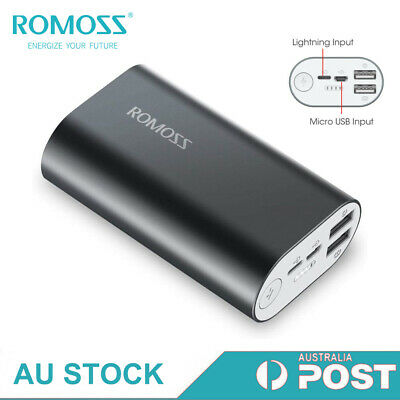 AU11.01 • Buy ROMOSS Power Bank Dual USB Mini Fast Charge Portable Battery Charger For Phone