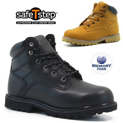 £19.95 • Buy Mens Safety Boots Steel Toe Cap Army Combat Work Ankle Walking Hiker Shoes Size