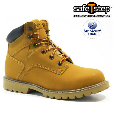 £19.95 • Buy Mens Safety Steel Toe Cap Army Combat Work Ankle Walking Hiker Boots Shoes Size