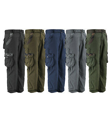 $29.95 • Buy Men's Cotton Twill  Military Tactical Work Army Camo Cargo Pants With Belt