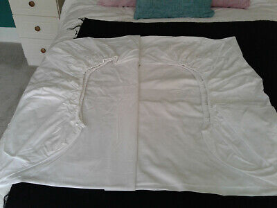 IKEA Double Size White 100% Cotton Fitted Sheet .11 Corners • 4.99£