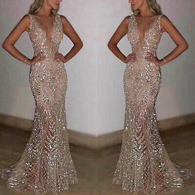 £24.50 • Buy Womens Formal Wedding Bridesmaid Long Evening Party Prom Cocktail Maxi Dresses