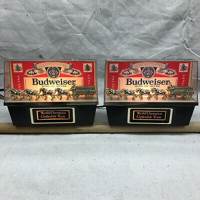 $ CDN361.55 • Buy Two Vintage 1981 Budweiser World Champion Clydesdale Team Lights NOS In Box!!!!!