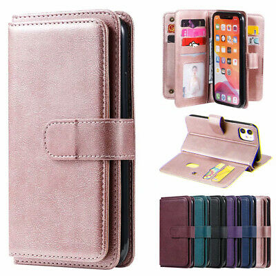 AU15.59 • Buy For IPhone 12 Pro Max 11 8/7/6s Plus Xs Leather Wallet Card Slot Case Flip Cover