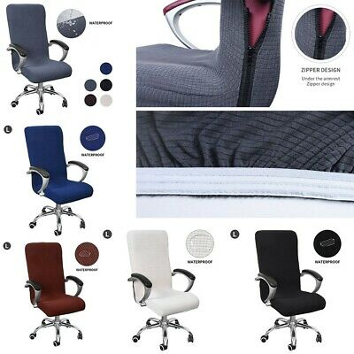 AU27.10 • Buy Spandex Office Chair Cover Stretch Seat Swivel Rotate Slipcovers Waterproof