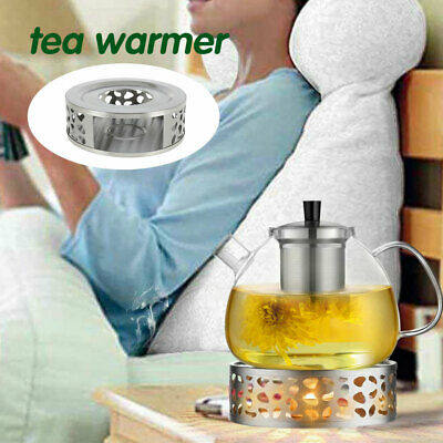 £8.99 • Buy  Stainless Steel Candle Round Base Heater Coffee Tea Teapot Light Warmer Holder