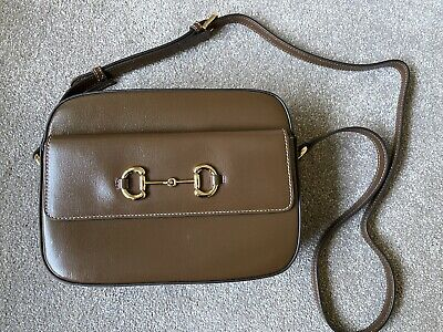AU769 • Buy Authentic Gucci Horsebit Leather Small Shoulder Bag
