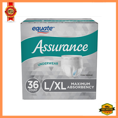 $24.45 • Buy Incontinence Disposable Underwear Men Size L/XL Adult Diapers, 36 Count