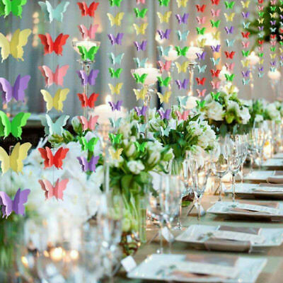 £4.99 • Buy Butterfly Hanging Garland Paper Bunting Banner For Birthday Party Wedding Decor