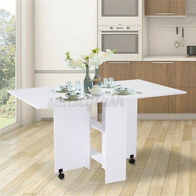 £66.89 • Buy Drop Leaf Dining Table Small Breakfast Room Folding Space Saving Modern Kitchen