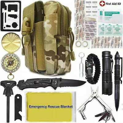 $32.99 • Buy 40 In 1 Camping Survival Gear Kits Military Tactical Emergency EDC Hiking Tools