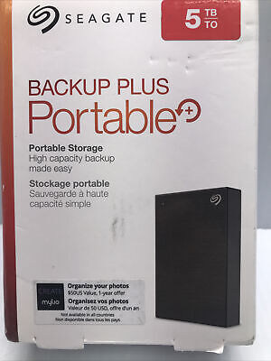 AU147.33 • Buy New Seagate Backup Plus 5TB Portable Hard Drive - Black (STHP5000400) (S1)