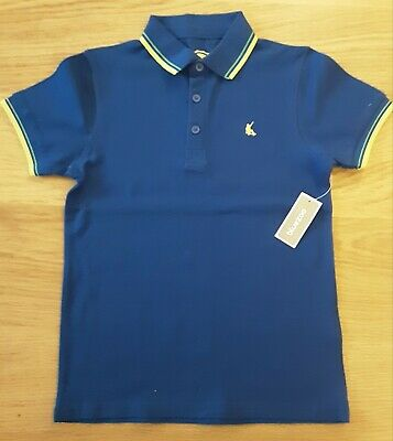 BLUE ZOO BOYS BLUE SHORT SLEEVED POLO SHIRT Age 7-8 Yrs Post In Uk Only  • 4£