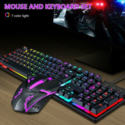AU24.49 • Buy Gaming Keyboard And Mouse Combo Mechanical Feel Backlit Computer Accessories💧