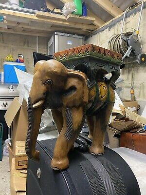 £250 • Buy Wooden Elephant Side Table - PAINTED
