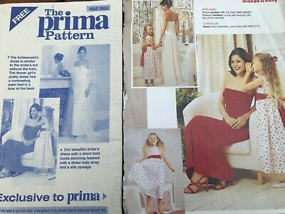 £2.50 • Buy Prima Sewing Pattern March 2004 Bride's And Bridesmaid's Dress/Flower Girl