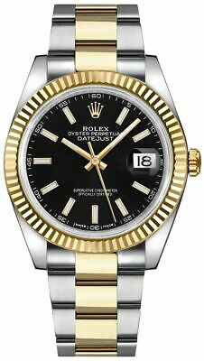 $ CDN20550.36 • Buy New Authentic Rolex Datejust 41 Black Dial Gold / Steel Men's Watch 126333-BLKSO
