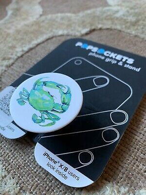 AU10.20 • Buy Popsockets Phone Grip Stand Holder- Blue Crab - New