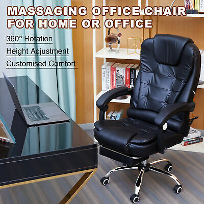 AU125.99 • Buy Massage Chair Computer Chair Office Desk Gaming Chair Swivel Recliner W/Footrest
