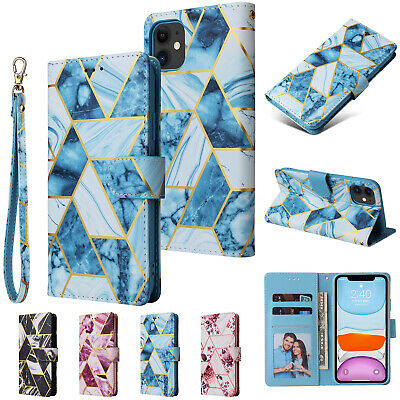 AU12.99 • Buy For IPhone 13 12 11 Pro Max Mini XS 8/7+ Case Marble Leather Wallet Flip Cover