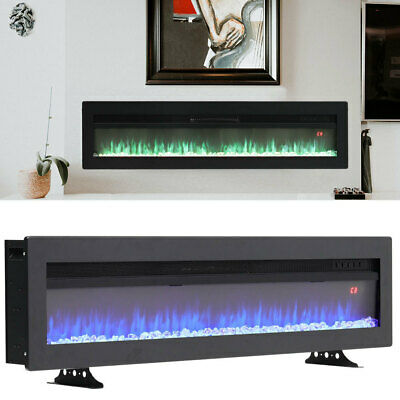 £175.95 • Buy 40  Wall Recessed Insert Electric Fire Fireplace 9 Flame Remote Free Stand Stove