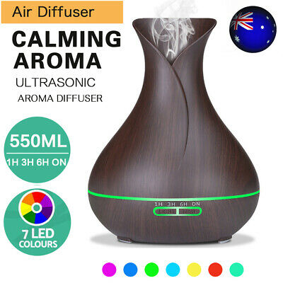 AU10.79 • Buy 550ML Aroma Aromatherapy Diffuser LED Oil Ultrasonic Air Humidifier Purifier