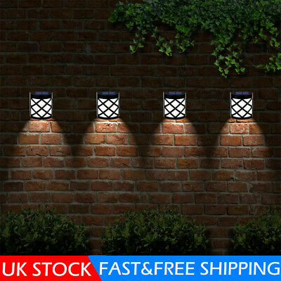 £10.59 • Buy 4 X LED Solar Powered Fence Wall Lights Garden Lamp Step Path Decking Outdoor UK