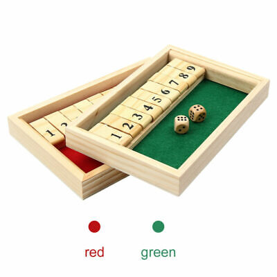 £5.56 • Buy 2 Players Shut The Box Wooden Traditional Pub Dice Family Kids Childrens Game UK