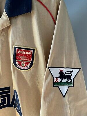£205 • Buy Arsenal 'Thierry Henry' 2001-2002 Winners Gold Sega Shirt With Badges RARE