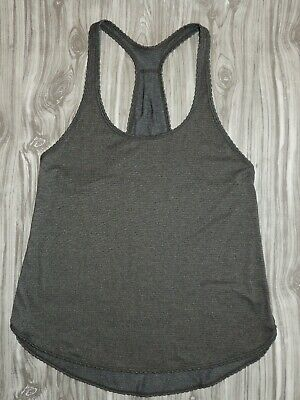 $ CDN8.45 • Buy Lululemon 105 F Singlet Tank Top Heathered Charcoal Dark Grey Racerback 4 6?