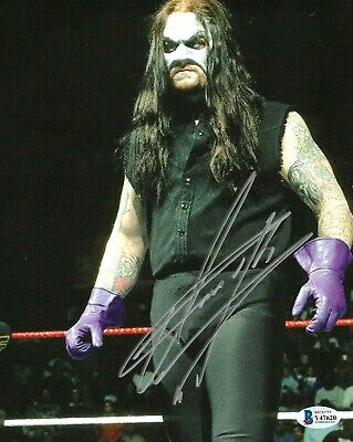 AU351.37 • Buy Wwe The Undertaker Hand Signed Autographed 8x10 Photo With Beckett Coa Rare 18