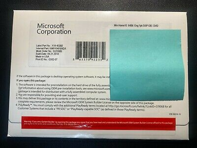 $ CDN23.34 • Buy SEALED Microsoft Windows 10 Home 64 Bit  DVD  +  Product Key