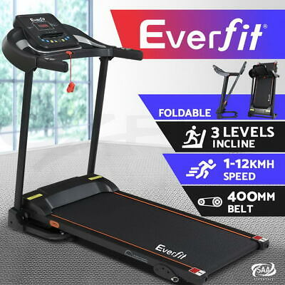 AU503.96 • Buy Everfit Treadmill Electric Incline Exercise Machine Fitness Home Gym 400mm