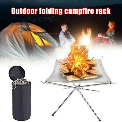 £7.50 • Buy Portable Mesh Fire Pit Folding Fire Pit Bonfire Stand For BBQ Outdoor Camping