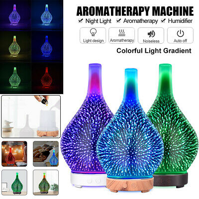 AU29.98 • Buy LED Ultrasonic Aroma Aromatherapy Diffuser Oil Electric Firework Air Humidifier