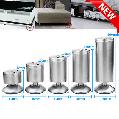 £11.88 • Buy 4pcs Stainless Steel Furniture Legs Adjustable Cabinet Sofa Table Feet Support