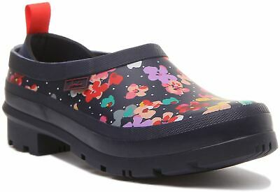 £37.95 • Buy Joules Pop On Womens Slip On Welly Clog With Floral Print In Navy Size UK 3 - 8