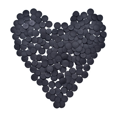 £4.39 • Buy Plastic Buttons Black Ornaments For DIY Shoes Charms Kids Croc Accessories