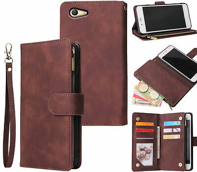 AU15.90 • Buy Oppo A59 F1s Suede Wallet Case Multifunction 6 Cards & Zipper