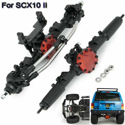 £125.59 • Buy Metal Complete Front & Rear Axle Black For 1/10 RC Crawler AXIAL SCX10 II 90046
