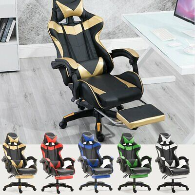 AU109.77 • Buy Ergonomic Gaming Computer Chair Swivel Office Chair Recliner Racing Desk Chairs