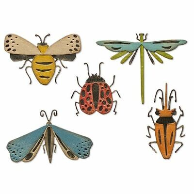 £12.99 • Buy Sizzix Thinlits- Tim Holtz Funky Insects  Set Of 5 Dies  *NEW FOR 2021*