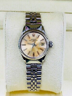 $ CDN2906.78 • Buy Vintage Rolex Oyster Perpetual Date Ladies Stainless Steel Watch Jubilee 6517
