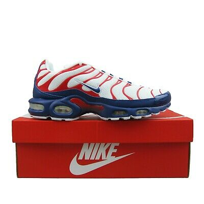 $139.95 • Buy Nike Air Max Plus White Blue Red USA Running Shoes CZ9167-100 Mens Multi Size